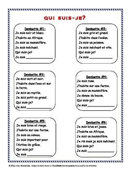 Students make their own - ACTIVITéS DE LECTURE SUR LES ANIMAUX (READING ACTIVITIES FOR ANIMALS VOCABULARY) - TeachersPayTeachers.com