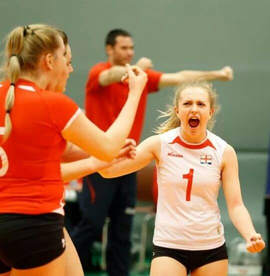 England's libero scores at the qualifier for the 2014 CEV U19 Volleyball European Championship - Women