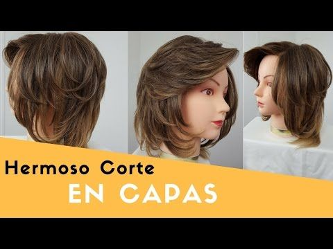 Coupe cheveux dégradée femme | Layered Bob haircut | Corte de pelo en capas mujer - YouTube