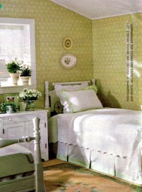 sweet green and white guest room: Anne Of Green Gables, Green Bedrooms, Guest Bedroom, Attic Room, Childs Bedroom, Sweet Green, Beautiful Bedrooms, Bed Bedrooms