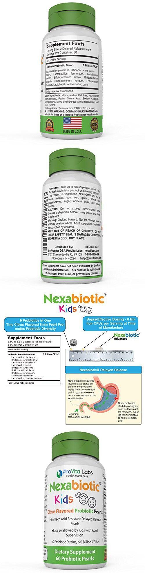 Nexabiotic Kids Chewable Probiotics for Kids in Easy-to-swallow Probiotic Pearls with 9 Strains including Bifidobacterium infantis
