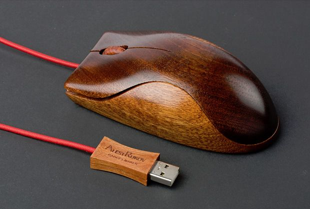 wooden mouse, that's just cool.
