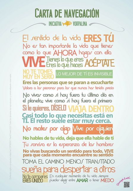 @INICvorpalina | Carta de navegación de Iniciativa Vorpalina #escuelacreativa @ecatolicas @tanja * montalva