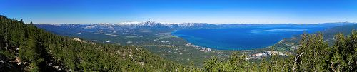 Lake Tahoe Basin From the Heavenly Ski Resort | Panorama / http://www.sleeptahoe.com/lake-tahoe-basin-from-the-heavenly-ski-resort-panorama/
