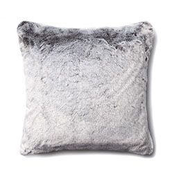 Montana Fur Grey Wolf Cushion - Home Republic