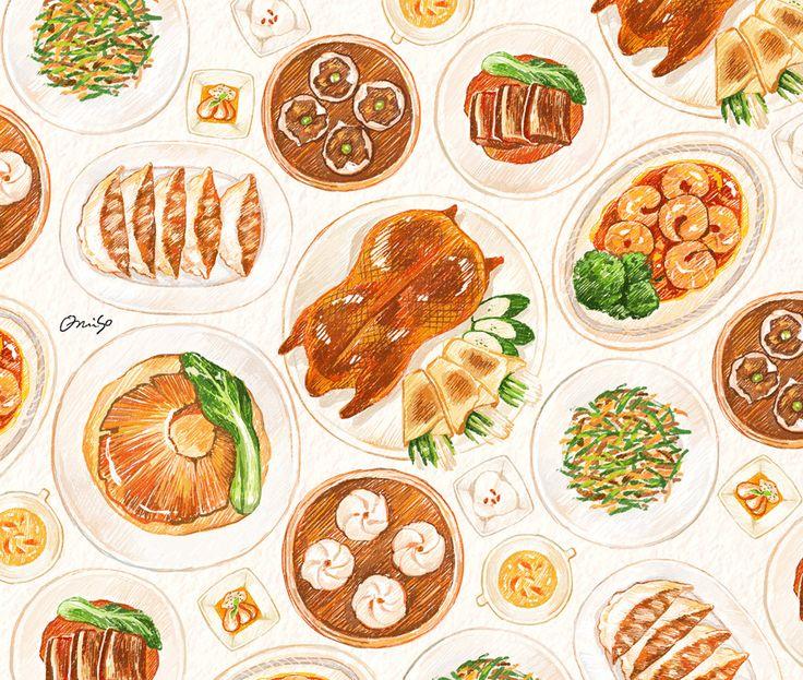 「中華料理」illustration by omiso.