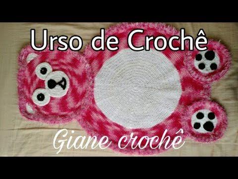 Tapete em Crochê - Ursinha - Professora Simone - YouTube