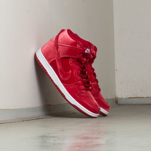 Nike Dunk High Premium SB Red Velvet; Gym Red; Gym Red-White za 2 990 Kč