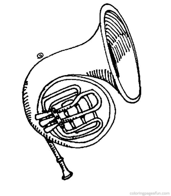 Musical Instruments Coloring Pages 53 | Musical ...
