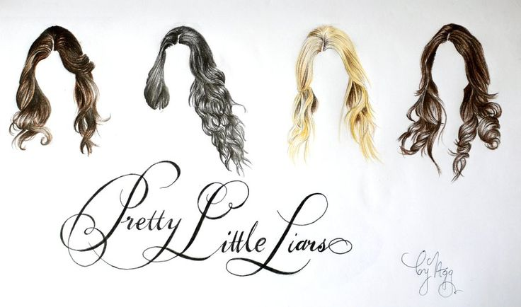 Pretty Little Liars different hair styles drawing
