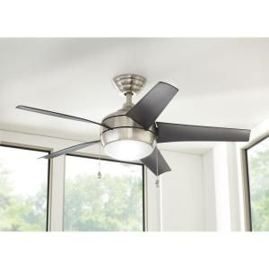 Home Decorators Collection, Windward 44 in. Brushed Nickel Indoor Ceiling Fan, 51565 at The Home Depot - Mobile