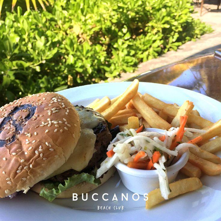 It's burger o'clock. 🍔⏰ #BuccanosLife