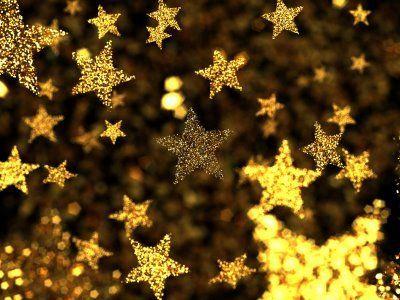Glittering gold stars...