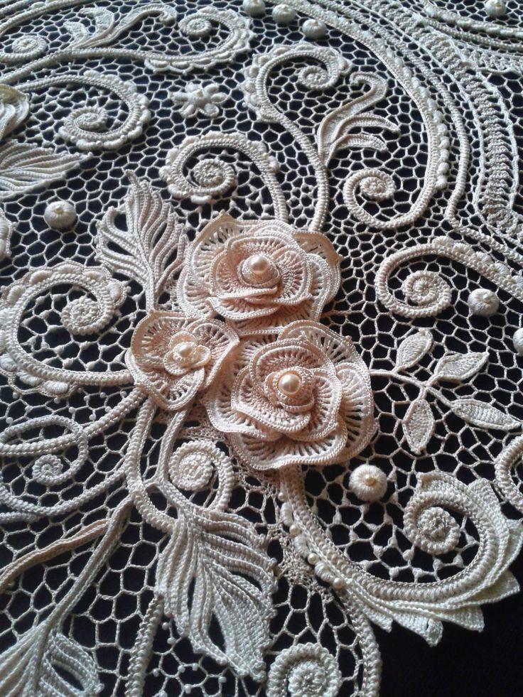 Марина Шеина(Ситникова). Irish crochet. Freeform. Motifs. Dress. Ирландское…