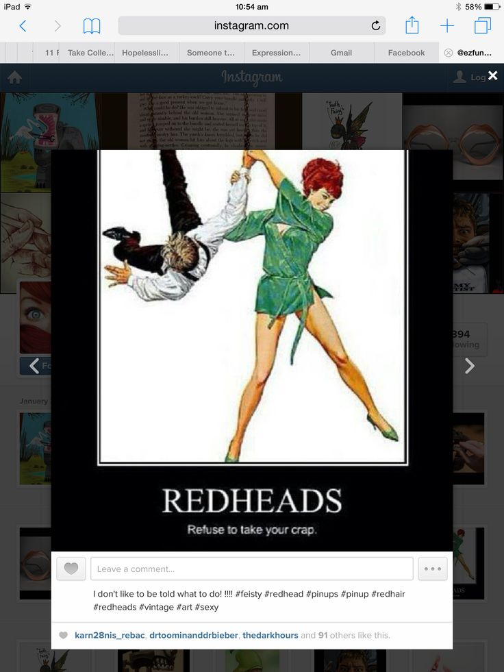 Redheads refuse to take your crap!