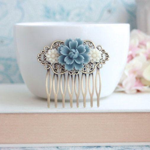 Crisantemo blu polveroso rosa Margherita avorio fiore di Marolsha