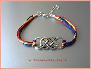 lucru manual adelina: Bratara tricolor din fire si link argintiu impleti...