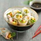 Vietnamesiska vårrullar med räkor, mango & thaibasilika