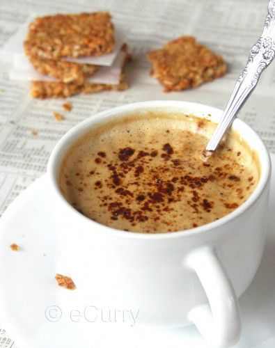 "Indian ""Expresso"" Coffee...my dad taught me how to make this recipe when I was growing up and here are the written steps to this delicious creamy and sweet drink!"