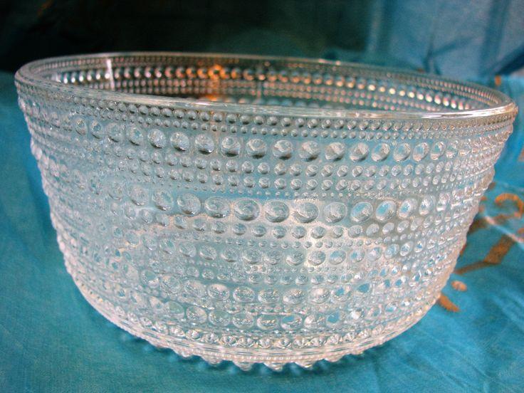 Arabia Iittala Kastehelmi Bowl Dewdrops Nuutajärvi – Toikka – clear glass – Finnish Scandinavian Design Finland vintage 1950s Mid Century von everglaze auf Etsy