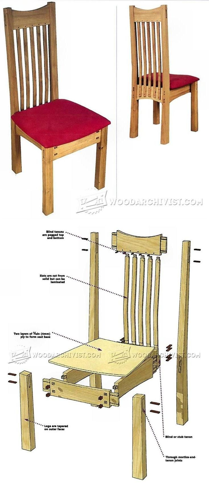 Arts and Crafts Chair Plans - Furniture Plans and Projects | WoodArchivist.com