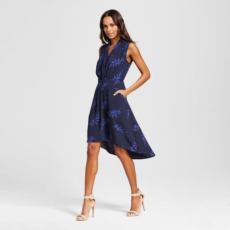 Women's High Low Dress - Merona Xavier Navy (Blue) Xxl