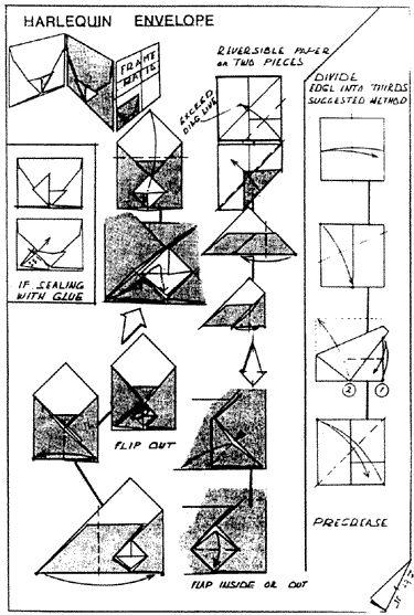 envelope and letter folding harlequin envelope