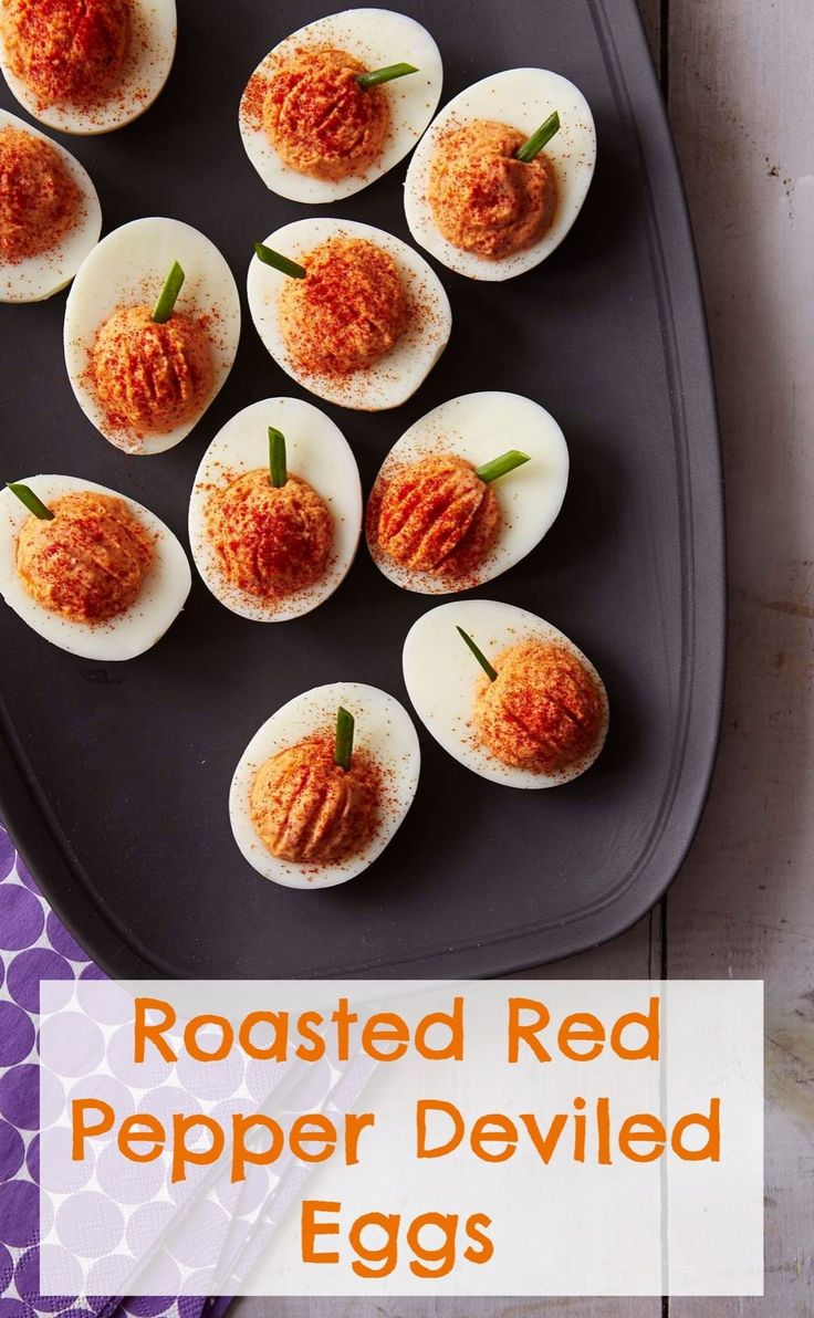 These adorable deviled eggs are sure to be a crowd pleaser for your fall get-togethers!