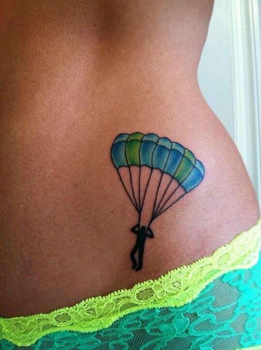 Skydiver tattoo