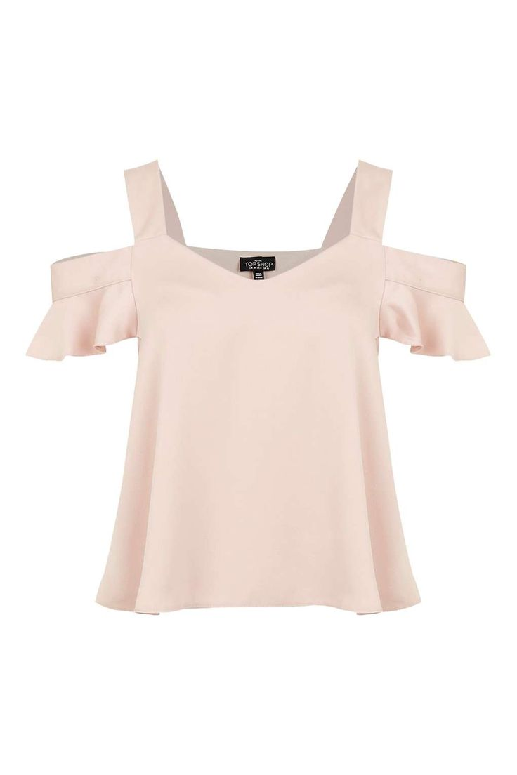 PETITE Satin Polly Bardot Top - Tops - Clothing - Topshop Europe