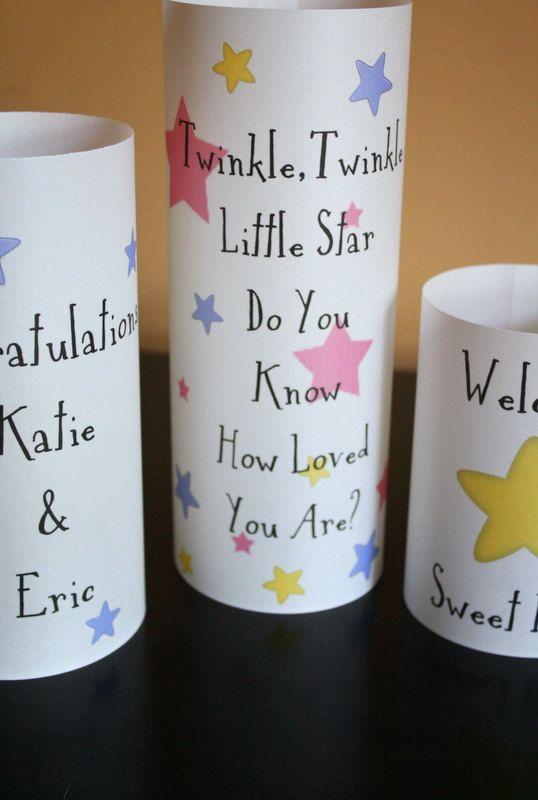 Baby Shower Centerpiece - Decoration - Twinkle Twinkle Little Star - Luminarias