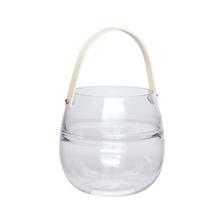 Glass lantern with bamboo handle. Product number: 950307 - Designed by Hübsch