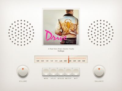 Dribbble - Retro Music Player by Piotr Kwiatkowski
