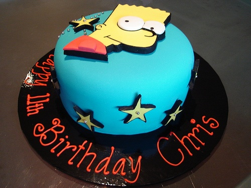 Bart Cake by Cre8acake, via Flickr