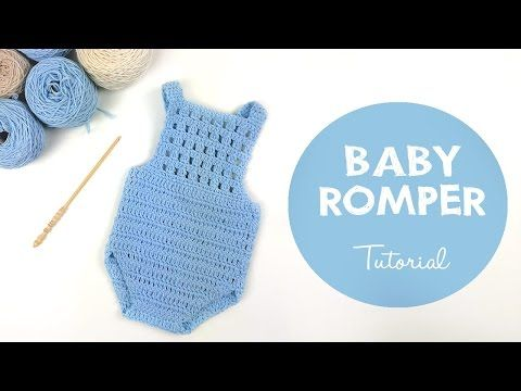 Croby Patterns | Crochet Baby Romper Blue Orchid – Free Crochet Pattern