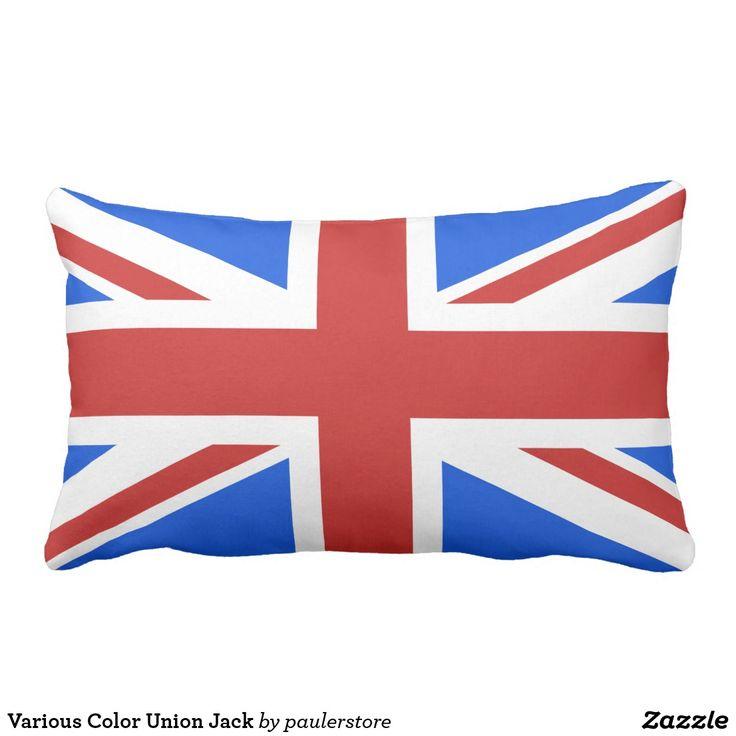 Various Color Union Jack Lumbar Pillow