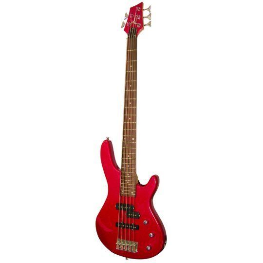 Kona Guitars KE5BMR 5-String Electric Bass Guitar w/ Split Pickup Configuration