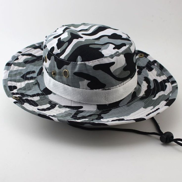 HITORHIKE Men Military Camo Bucket Hat with String Camping Hiking Travel Sniper Wide Brim Tactical Airsoft Camouflage Boonie Hat