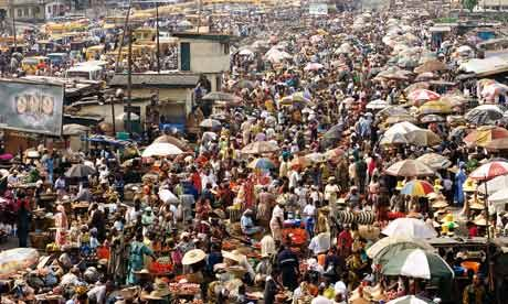 Lagos, Nigeria - crowded Oshodi market  We passed over 20,000 in a couple hours at this market.