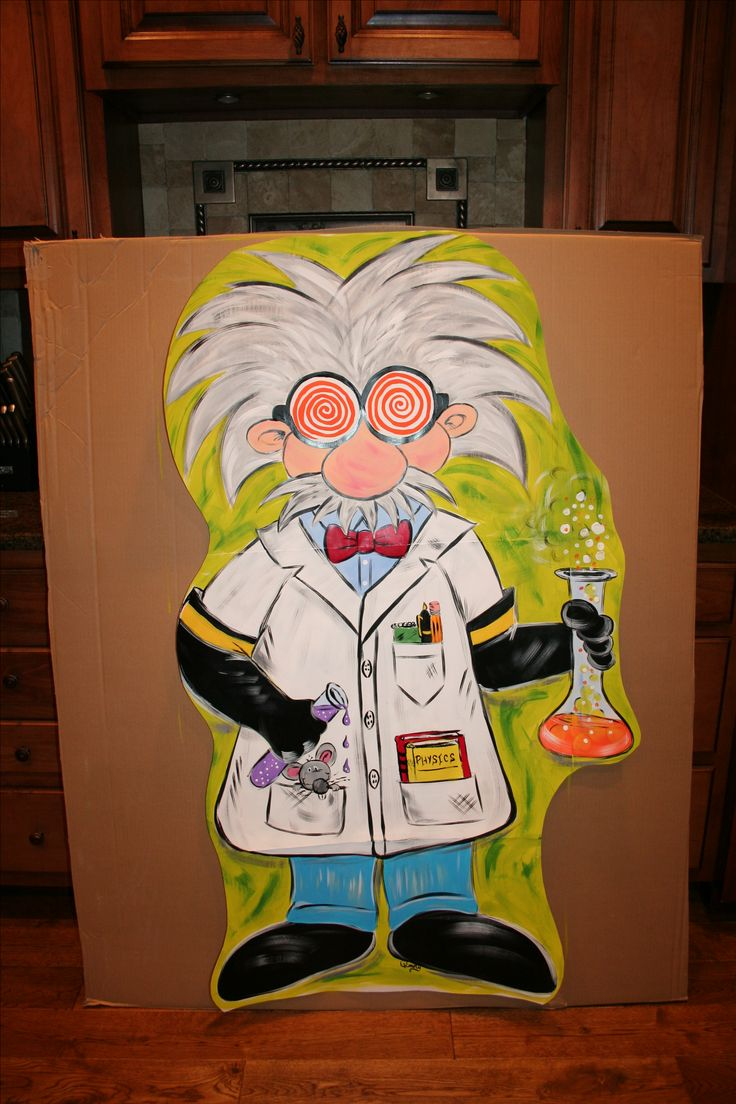 Mad Scientist School Decoration For Science Lab Door