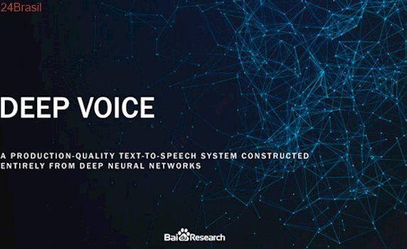 Baidu pretende superar Google com IA que imita perfeitamente a voz humana