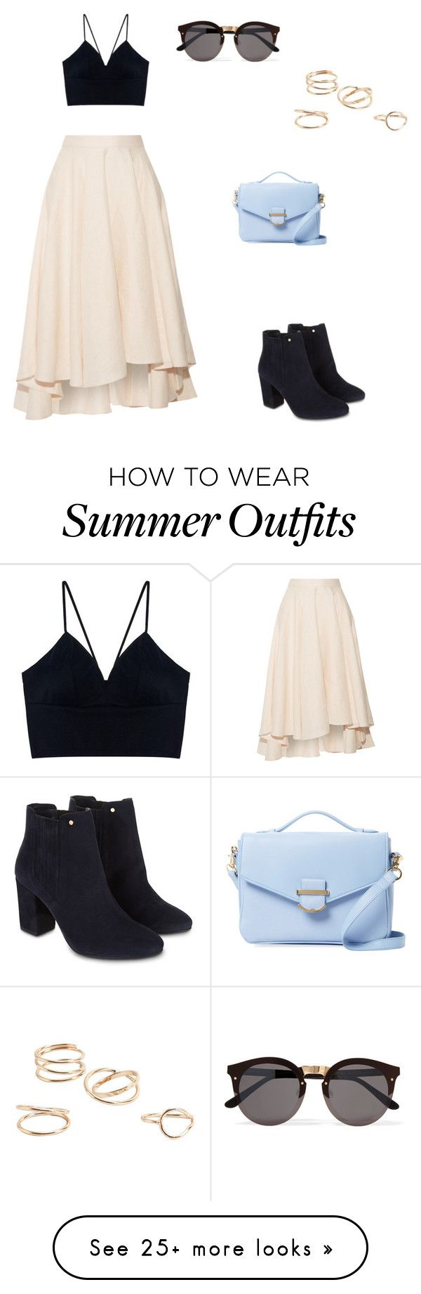 """Summer outfit"" by lauren-vanvuuren on Polyvore featuring Miguelina, MANGO, Monsoon, Cynthia Rowley and Illesteva"