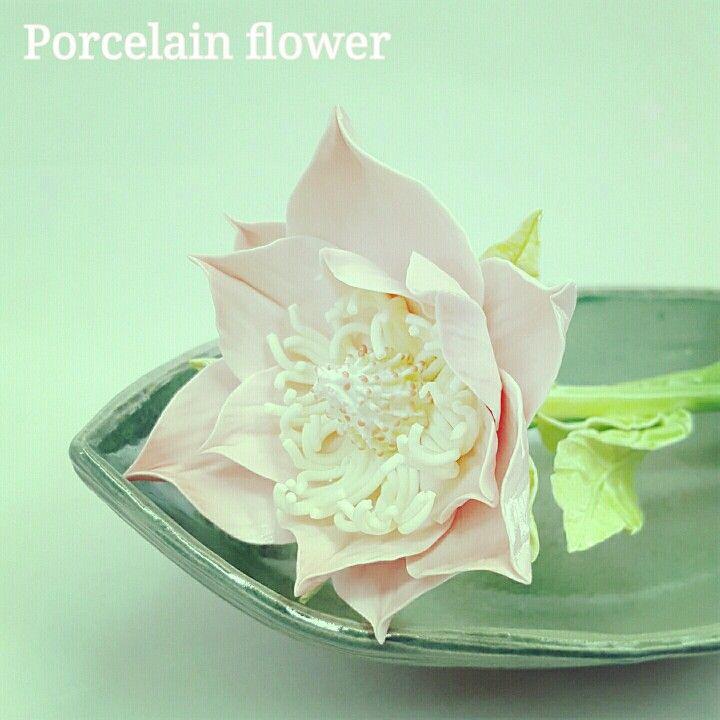 Ceramic magnolia, porcelain flower, ceramic floral