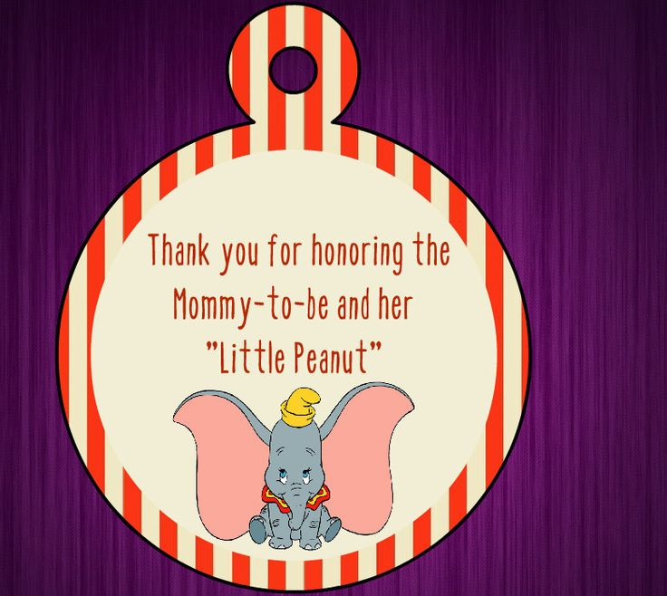 Dumbo Baby Shower Thank You Tags By CrystalsCraftyShop On Etsy