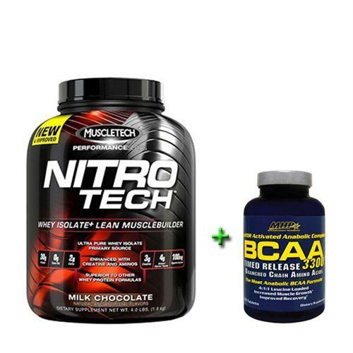 Muscletech Nitro-Tech 1.8 kg + MHP Bcaa 3300 120 Tablet