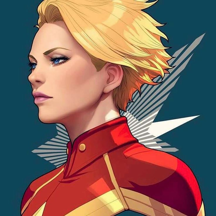 Capitain Marvel by Artgerm