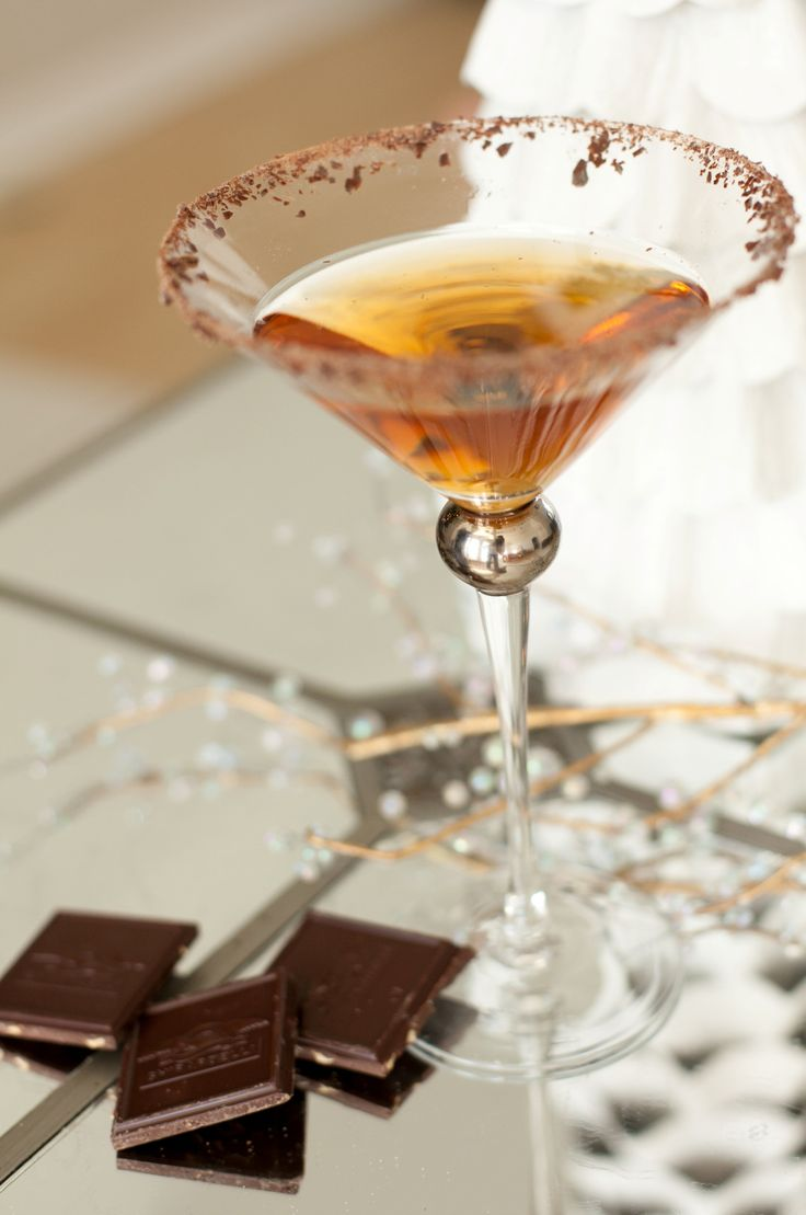 A martini for my brother-in-law and dark chocolate...for you bro Enjoy after-work Wealth and Luxury xo Your  Sister in Law who adores you