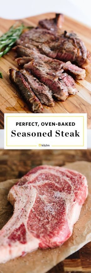 How to Cook Perfect Steak in the Oven. This romantic recipe is perfect for a date night in or valentine's day dinners. Steak recipes are surprisingly easy if you try baking in the oven after a pan seared start on the stove! You don't need much more than a cast iron skillet, salt, pepper, and butter.