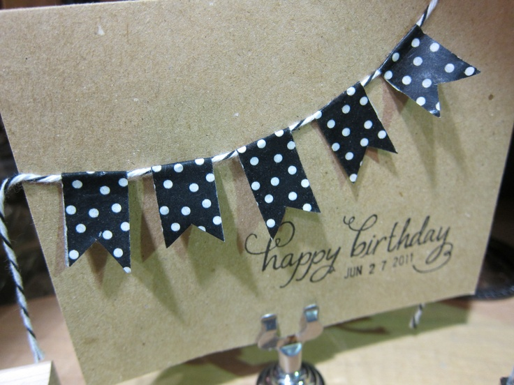 washi tape birthday card: Cards Frugal, Cards Ideas, Cards Birthday, Birthday Cards, Atc S Cards Tags, Cards Cards, Kaarten Cards, Cards Invitations, Buntings Cards