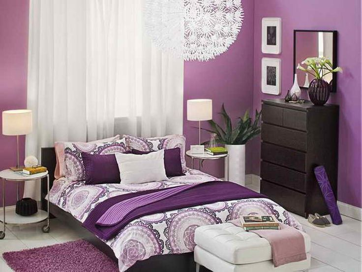 Purple Bedroom Ideas for Adults | Bedroom Painting Ideas for Adults with Purple Theme